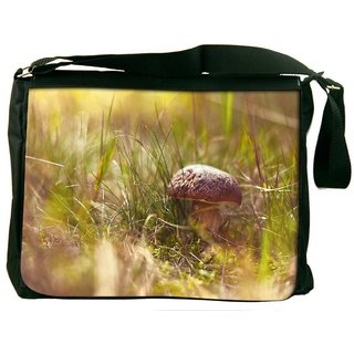 Snoogg Small Mushroom Digitally Printed Laptop Messenger  Bag