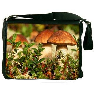 Snoogg Mushroom In Garden Digitally Printed Laptop Messenger  Bag