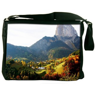 Snoogg Multiple Trees Digitally Printed Laptop Messenger  Bag