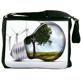 Snoogg Tree In A Bulb Digitally Printed Laptop Messenger  Bag