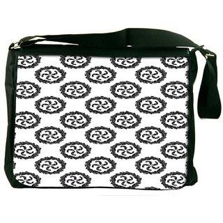 Snoogg Multiple Winds Digitally Printed Laptop Messenger  Bag