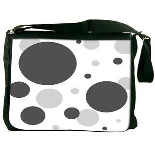 Snoogg Grey Blocks Digitally Printed Laptop Messenger  Bag