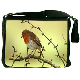 Snoogg Small Sparrow Digitally Printed Laptop Messenger  Bag