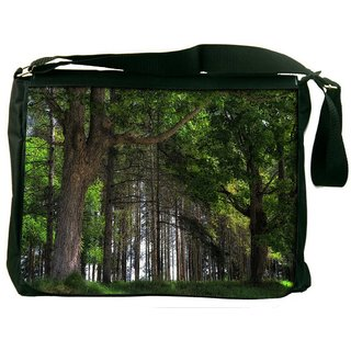 Snoogg Big Trees Digitally Printed Laptop Messenger  Bag