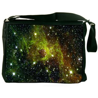 Snoogg Galaxy Digitally Printed Laptop Messenger  Bag