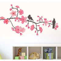Walltola Pvc Small Peach Branch Wall Decal (24X18 Inch)