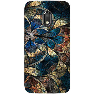Casotec Fractional Pattern Design 3D Printed Hard Back Case Cover for Motorola Moto G4 Play