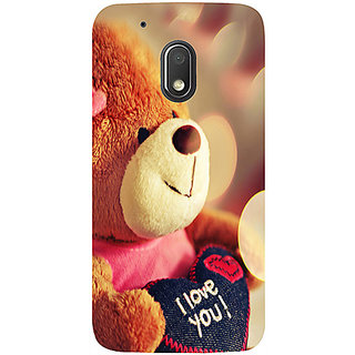 Casotec Teddy Bear Design 3D Printed Hard Back Case Cover for Motorola Moto G4 Play