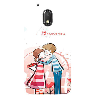 Casotec Boy Kissing Girl Design 3D Printed Hard Back Case Cover for Motorola Moto G4 Play
