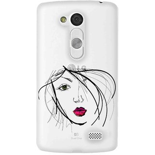 Snooky Printed transparent Silicone Back Case Cover For LG L Fino