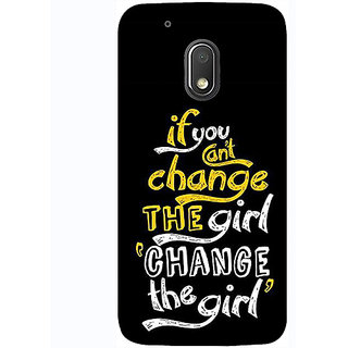 Casotec Changing Girl Design 3D Printed Hard Back Case Cover for Motorola Moto G4 Play