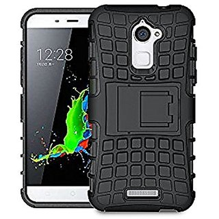 Kenal Hybrid Armour back case cover for Coolpad Note 3 Lite with Kick Stand