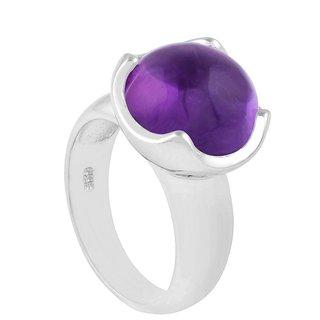 Allure Jewellery 925 Sterling Silver Single Gemstone Amethyst Ring
