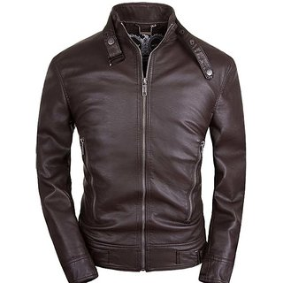 Leather Jacket New Men Motorcycle Zipper Bomber Jacket