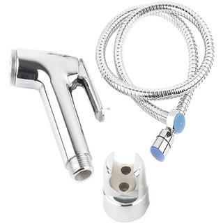SSS Health Faucet Continental Complete Set ABS Material Chrome With 1.5 Meter Stainless Steel Chain Hand Held/Jet Spray