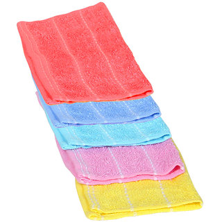 Set of 5 Face Towel 11x11inch Assorted