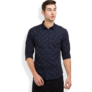 Highlander blue button down full sleeves mens casual for Where to buy button down shirts