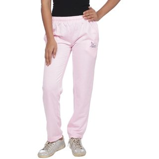 Brink Pink Cotton Solid Pyjama For Women