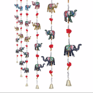 Satya meenakari elephant door hanging-1 piece