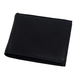 Mens Wallet Genuine Leather Bifold Credit Card Holder Black Coin Photo ID Purse
