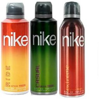 Nike Deodorants Ride Casual Extreme for Men 200ml Each (Pack of 3)