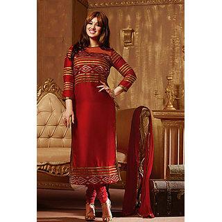 New Ayesha Red Designer Dress Material