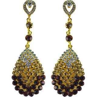 Glitters    Green Stone American Diamond  Fashion Earring  Est028Gr