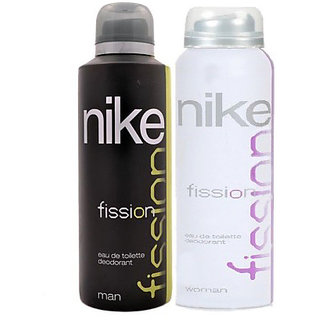 Nike Deodorants Fission for Men Women 200ml Each (Pack of 2)