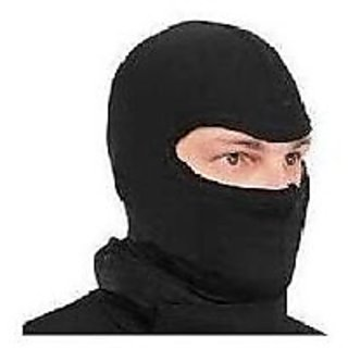 Universal Black Full Face Mask Riding Mask Soft Cloth For Better Experience