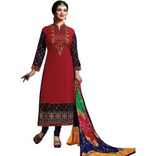 Ayesha Red  Blue Bandhani Designer Printed Salwar Suit