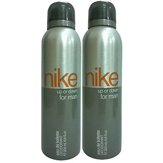 Nike Deodorants 2 Up Or Down for Men 200ml Each (Pack of 2)
