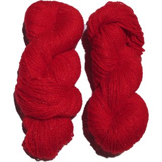 Vardhman Butterfly Red 300 Gm (3 Pc) hand knitting Soft Acrylic yarn wool thread for Art & craft, Crochet and needle
