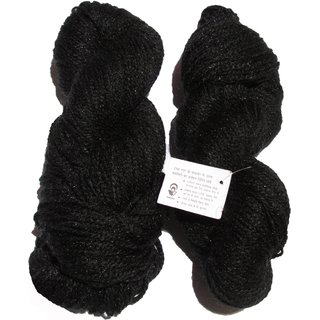 Vardhman Butterfly Black 300 Gm (3 Pc) hand knitting Soft Acrylic yarn wool thread for Art & craft, Crochet and needle