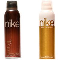 Nike Deodorants Urban Musk For Men And Gold Edition For Women 200ml Each (Pack Of 2)