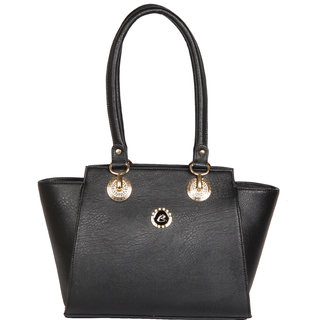 Clarzz Modern Arabian Women Elegant Shoulder Tote Bags- Black