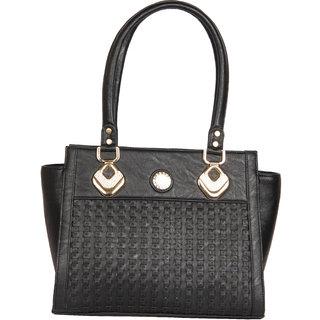 Clarzz Belinda Cruz Elegant Shoulder Tote Bags- Black