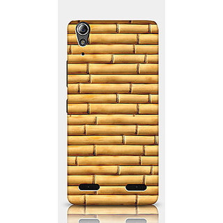 Crazyartshop Bamboo Wooden Designer Back Case Cover for Lenovo A6000 Plus