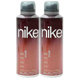 Nike Deodorants 2 Urban Musk Men 200ml Each (Pack of 2)