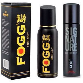 Fogg Fresh Spicy, Axe signature Deo combo(pack of 2)(120ml)
