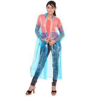 ALLWIN Raincoat Rainsuit Full Sleeve Coat, Cap, CT-559ANavy BlueS