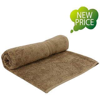 Buy Branded Welspun Single Terry Bath Towel Beige