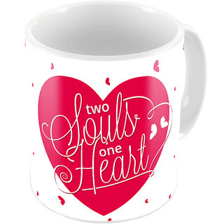Little India Designer Romantic White Color Coffee Mug 650