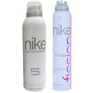 Nike Deodorants 5th Element-Fission For Women 200ml Each (Pack of 2)