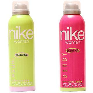 Nike Deodorants Casual Trendy for Women 200ml Each (Pack of 2)