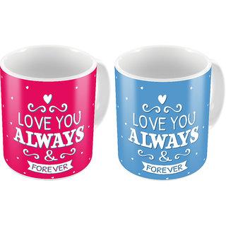 Little India Designer Romantic Print Coffee Mug Pair 443