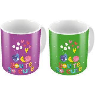 Little India Designer Romantic Printed Coffee Mug Pair 444