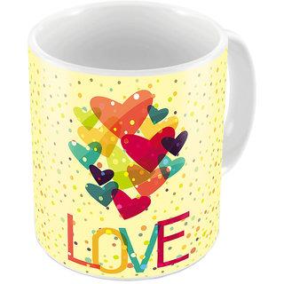 Little India Yellow Designer Romantic Printed Coffee Mug 656