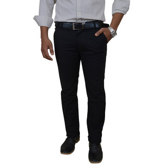 Roadeez Black Trendy Casual/Formal Trouser