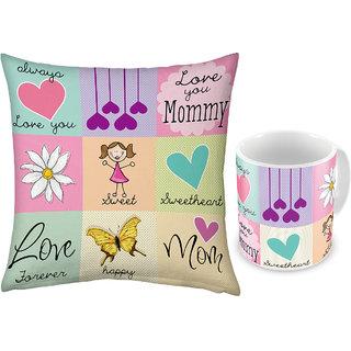 Buy Love U Mother Print Coffee Mug n Get Cushion Free