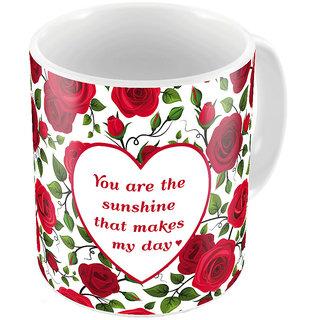 Little India Red Designer Romantic Print Coffee Mug 731